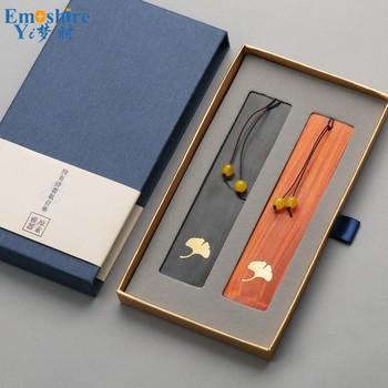 Emoshire Two Pieces Wood Bookmark Classical Bookmark for School Office Graduation Gift with Brand Box Wooden Bookmark M121 фото