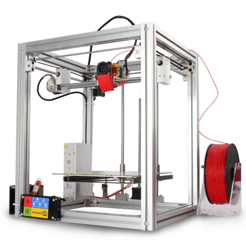 S5 2017 New 3 D Printer Metal Frame DIY Kit Printers 3d Makerbot Auto Leveling Touch Screen Big Print Size High Precision
