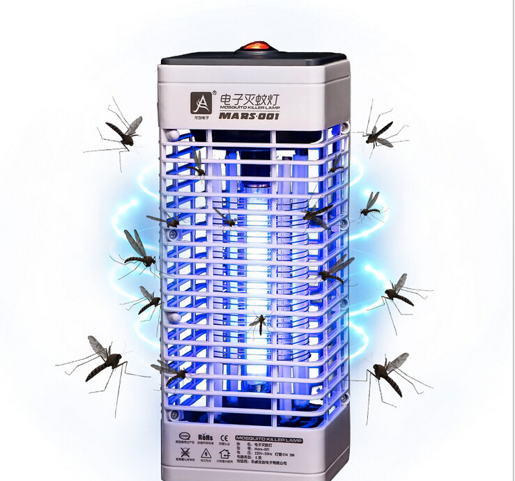 Electric Indoor Outdoor Fly Bug Lamp Trap Catcher Lamp Killer Insect Mosquito Killer Tool LED Insect Trap Non-radiative