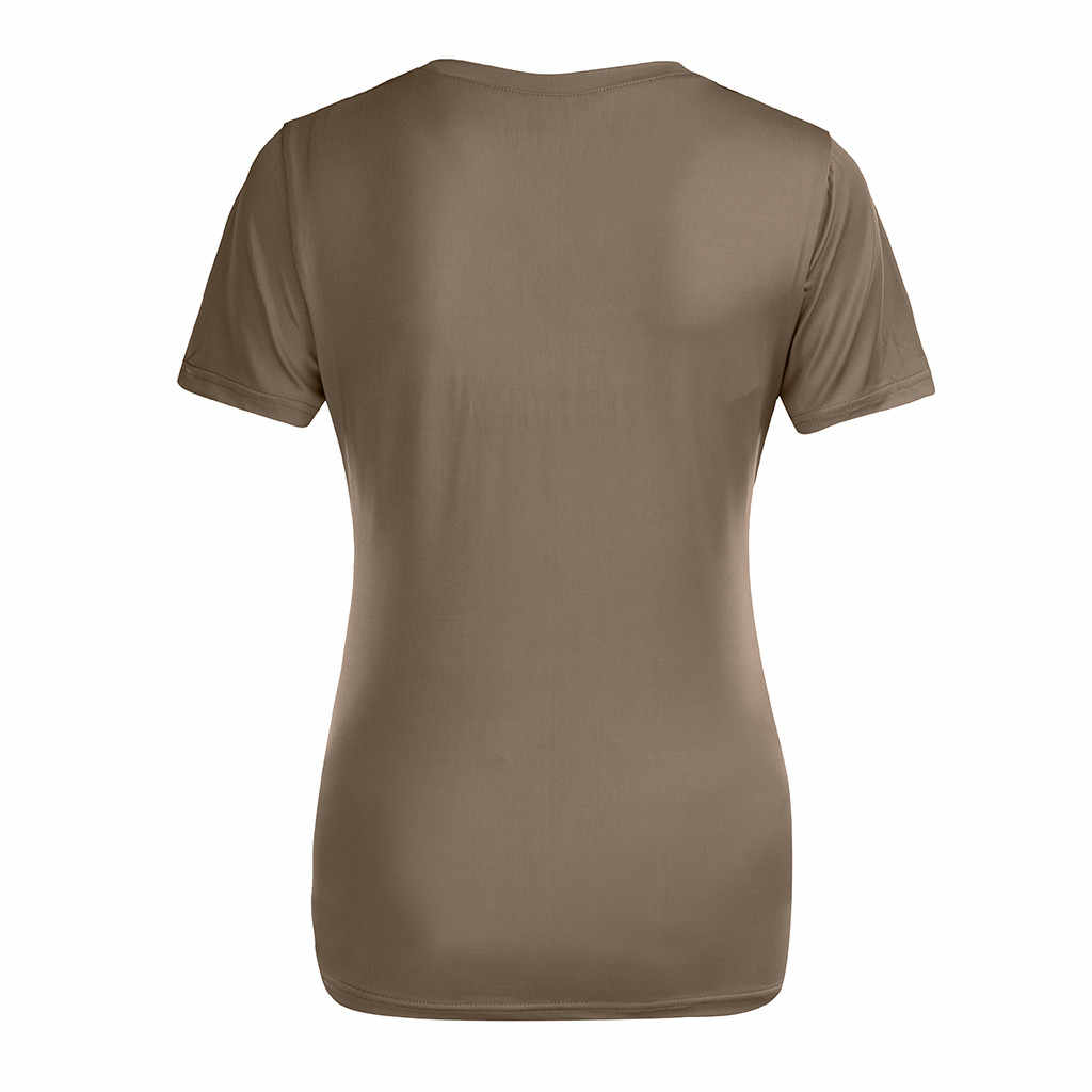 Уход Топ Для женщин летние шорты рукавом Повседневное v-образным вырезом сплошная футболка футболки для новорожденных беременных Одежда для беременных Ropa Embarazada 19Apr25