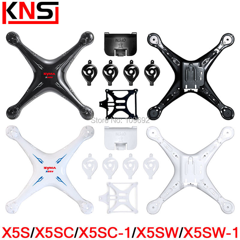 SYMA X5S X5SC X5SC-1 X5SW X5SW-1 Main Body Shell Spare Parts RC Quadcopter Drone Motor And Battery Cover Helicopter Accessories wholesale syma x5sw rc quadcopter drone spare parts main body shell cover 5pcs