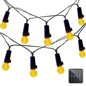 DCOO Solar String Light G12 Mini Globe Bulbs 50 LEDs Outdoor Christmas Light for Home Bedroom Patio Garden Wedding Holiday Party
