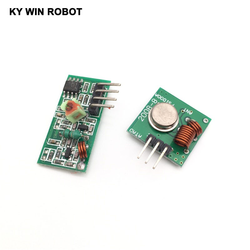 Electronic Components & Supplies 433mhz Rf Transmitter And Receiver Module Link Kit For Arm/mcu Wl Diy 315mhz/433mhz Wireless For Arduino Diy Kit Neither Too Hard Nor Too Soft