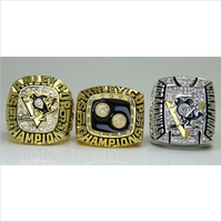 One Set 3 PCS 1991 1992 2009 Pittsburgh Penguins Hockey Stanely Cup Championship Ring 8 14