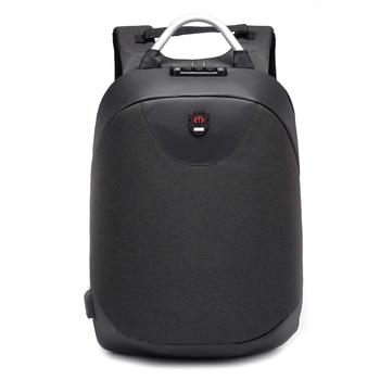 TFTP-15.6 zoll Laptop rucksack männer Wasserdichte Rucksack Lässig Reise Business USB Zurück pack Männlichen Tasche Anti-diebstahl Geschenk