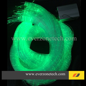 FY5W-750-004 Colorful LED Fiber Optic Light Bundle 60pcs 2m Side Light Pointed Fiber Optic Cable with RGB Remote Controller