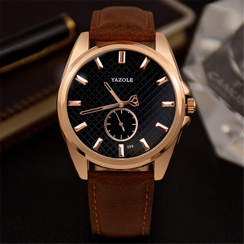 YAZOLE Business Watch Men Hollow Needle Small Dial Leather Strap Quartz Wrist Watch Elegant Male Clock Reloj Hombre YD356 цена