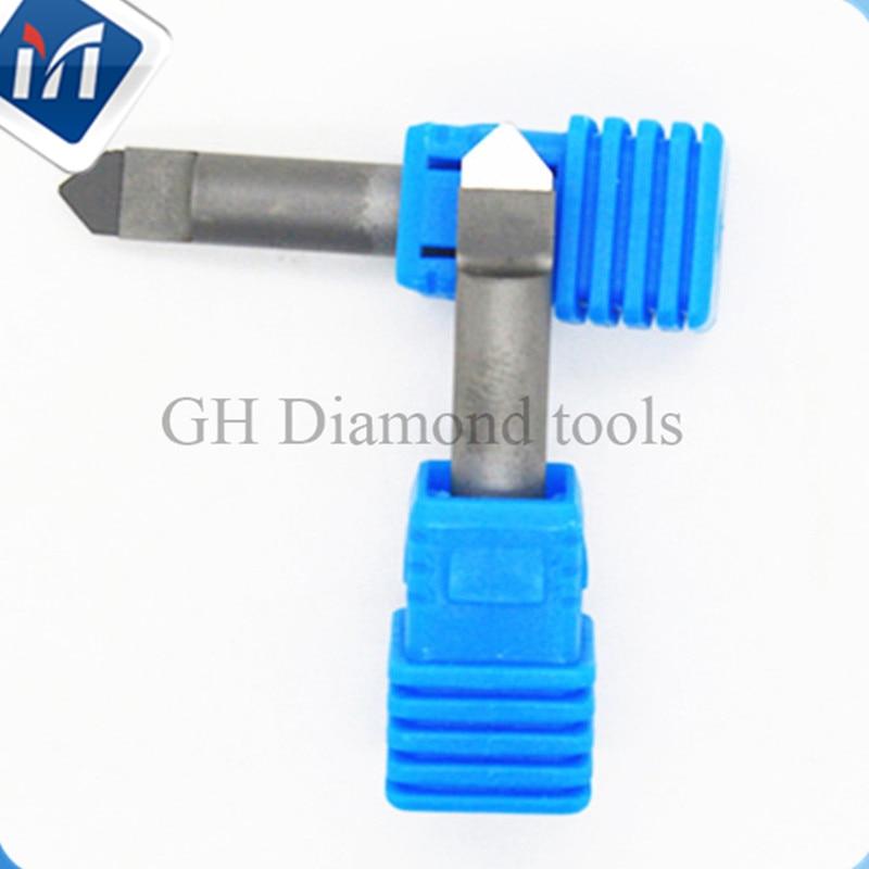 Diamond Engraving Bit Stone Tools Shank 6 Mm Cnc Milling Cutter PCD Engraver For Stone Hard Granite