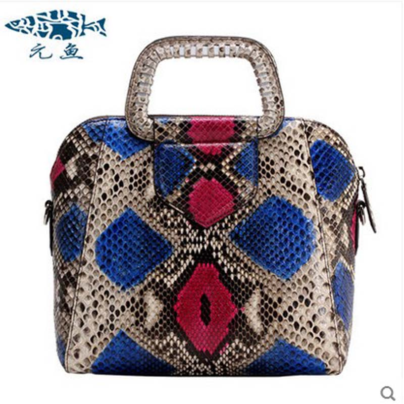 yuanyu 2018 new hot free shipping python leather handbag snake skin handbag single shoulder bag women handbag yuanyu 2018 new hot free shipping crocodile women handbag wrist bag big vintga high end single shoulder bags luxury women bag