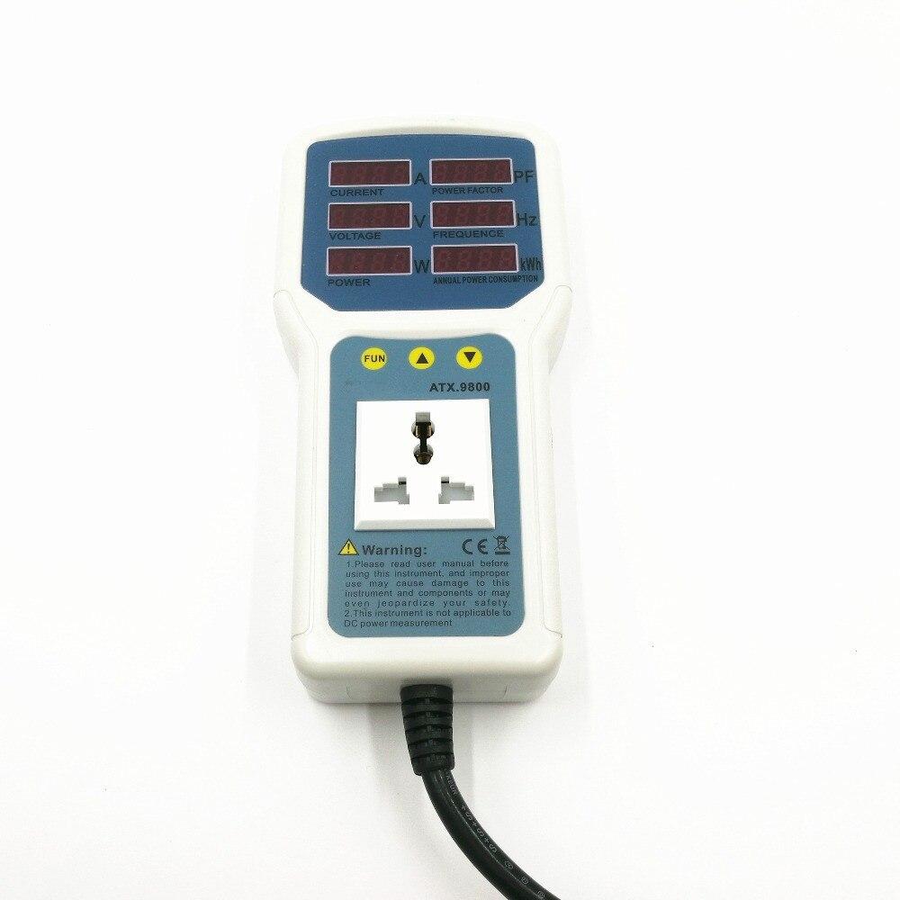 High Performance Original Power Meter 4400W 20A Socket Watt Meter Analyzer Digital Electric Power Energy Monitor LED Light Meter digital electric power energy meter tester monitor watt meter analyzer energy saving lamps tester hp9800 digital voltage meter