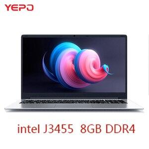 Laptop YEPO 737A 15.6 cala Ultrabook laptopy do gier intel celeron J3455 komputer przenośny z 8GB pamięci RAM 256GB 512GB 1TB SSD ROM