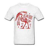 Mayan Mexican Ancient Bird God T Shirt Adult Crew Neck Printed Tee Shirts Men Cotton Natural