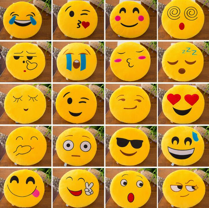 50 stks/partij emoji kussen kussen decoratie decoratieve kussens emoticons kussens glimlach emoji pad party gunsten-in Feest bedankjes van Huis & Tuin op  Groep 2