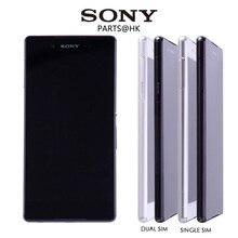 """100% Original Negro Blanco 5.2 """"1920×1080 SONY Xperia Z4 Pantalla LCD Táctil Digitalizador Asamblea de Pantalla con Marco reemplazo"""