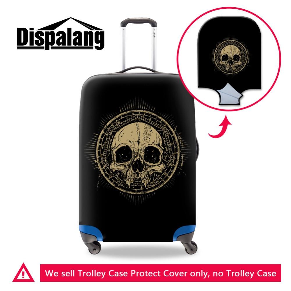 Lobanjska zaščitna prevleka za zaščito prtljage za 18-30-palčni kovček Cool Elastična prevleka za moške potovalne kovčke