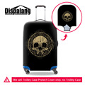 Skull Waterproof Luggage Protection Cover For 18-30 inch Suitcase Cool Elastic Luggage Cover Mens Travel Suitcase Accessories