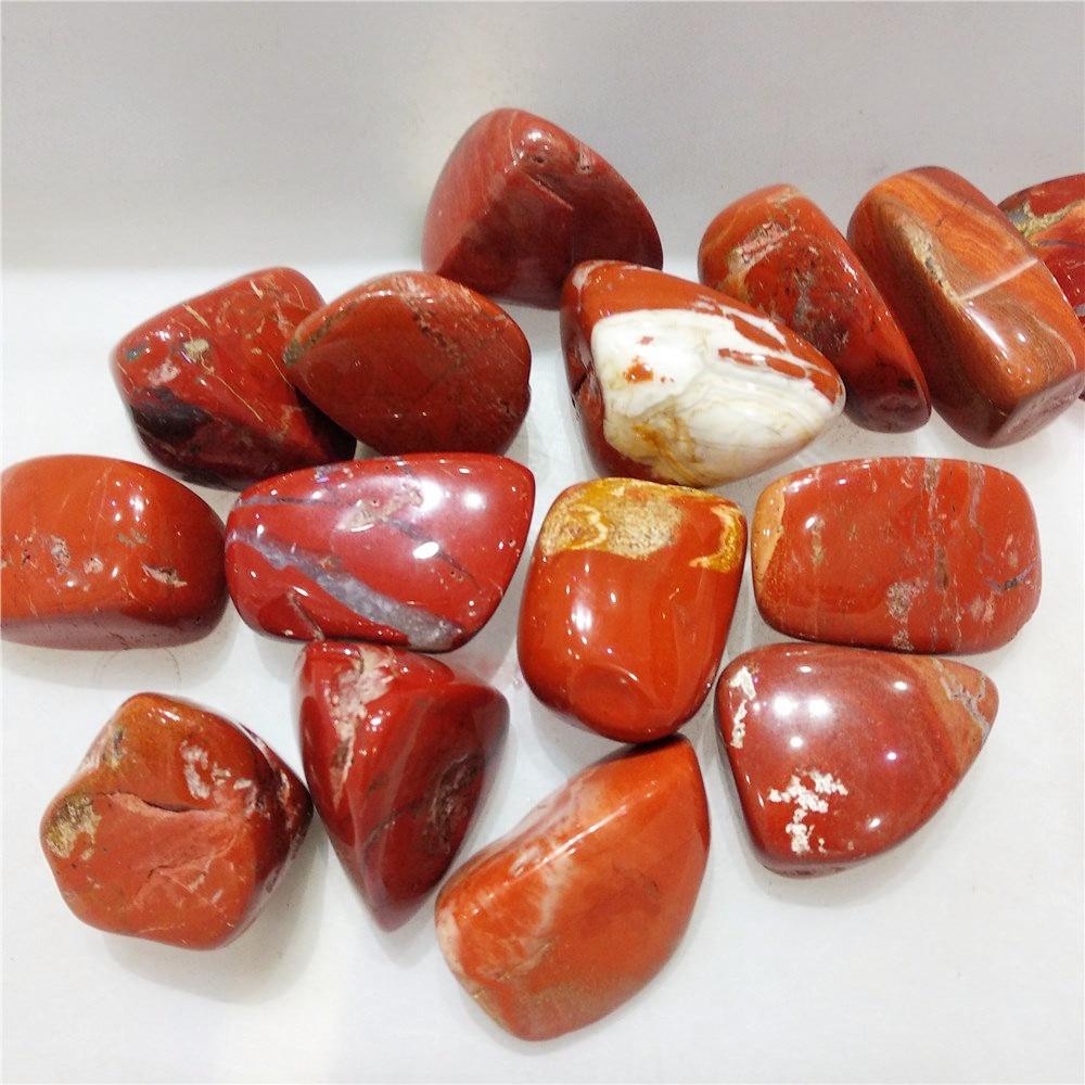 Piedra de cristal ca do de cuarzo jaspe rojo reiki piedra natural curativa y minerales decoraci