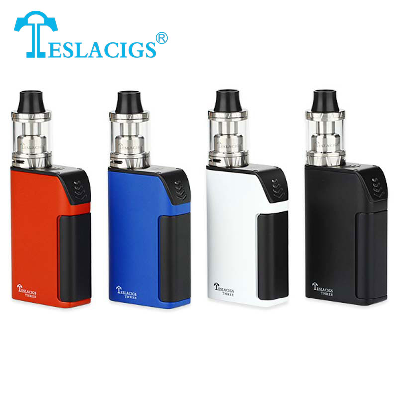 100% Original Teslacigs Tesla Three Starter Kit 150w 5000MAH SUPER CAPACITY Vaporizer Carrate 24 RTA Tank Electronic Cigarette
