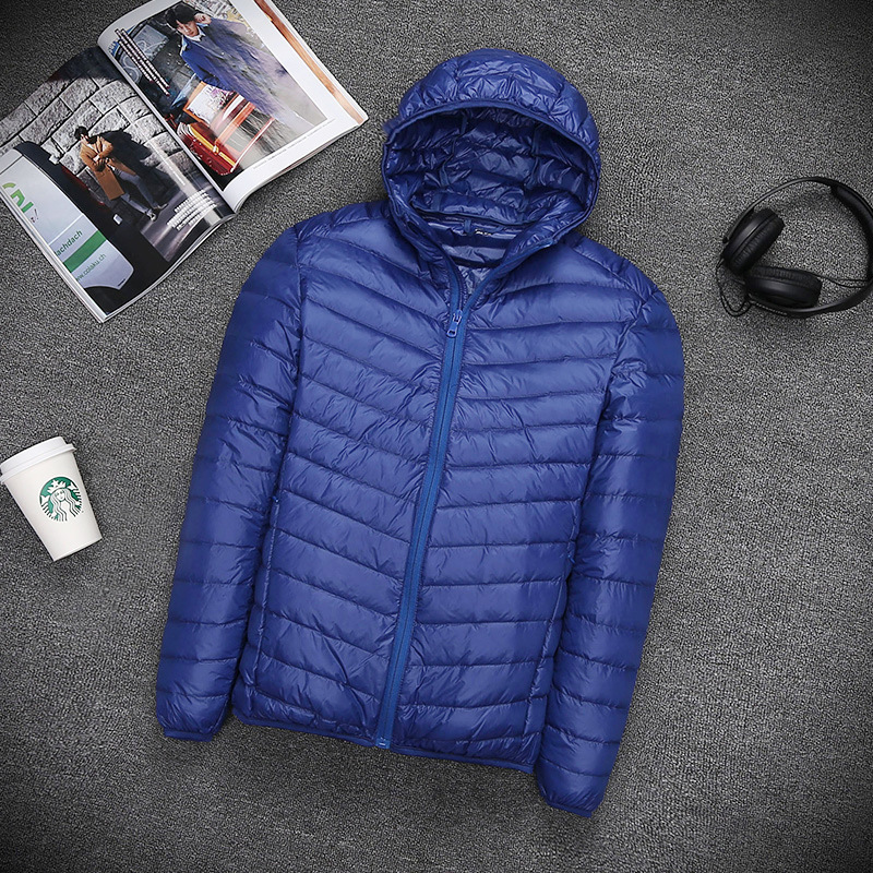 US $40.4 19% OFF|Mens ultra light oversized short paragraph down jacket thin European and American men's down jacket in Parkas from Men's Clothing on