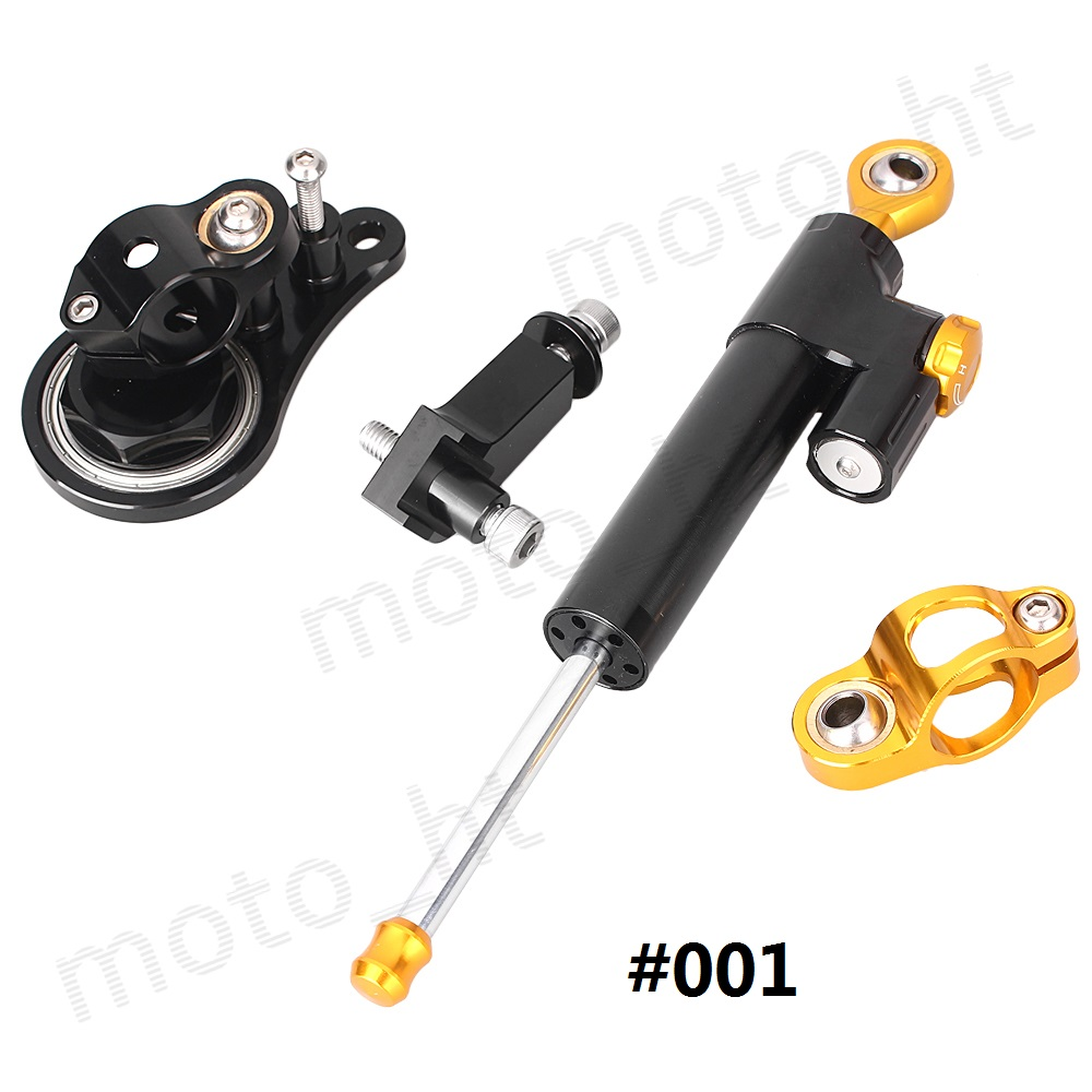 CNC Steering Damper Stabilizer with Bracket Mounting Kit full set for Kawasaki Ninja ZX6R 2005 2006 12 Colors cnc steering stabilizer damper for kawasaki ex250r ninja 08 12 ex300r 13 15 zx636 13 14 zx6r zx 6r 07 12 zx10r zx 10r 04 13