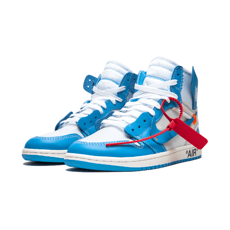 687b873f4991 Original New Arrival Authentic NIKE Air Jordan 1 x Off White Men s  Basketball Shoes Sneakers AJ1 Comfortable AQ0818 148-in Basketball Shoes  from Sports ...