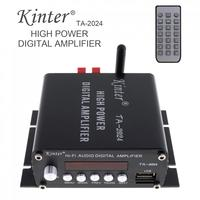 Kinter TA 2024 Amplifier Audio Speaker Car Bluetooth Class D Digital Amplifier 15W Player Remote Controller