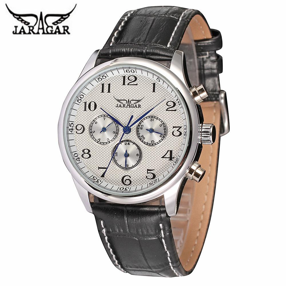 Prix pour Reloj Hombre 2016 JARAGAR Mode Auto-vent Sport Montres Hommes Marque De Luxe Militaire Montre Mécanique Horloge Relogio Masculino