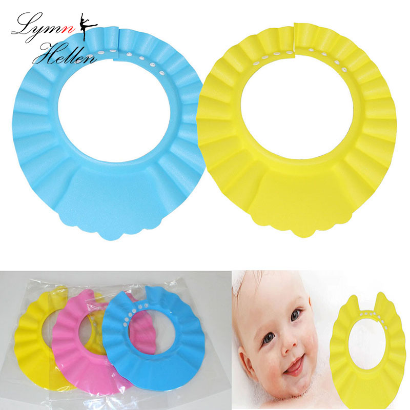 Hot Sale Kids Shampoo Cap Thicker Adjustable Eva Foam Bath Shower Cap Hat Water Wash Hair Shield Three Colors Choose Baby Tubs