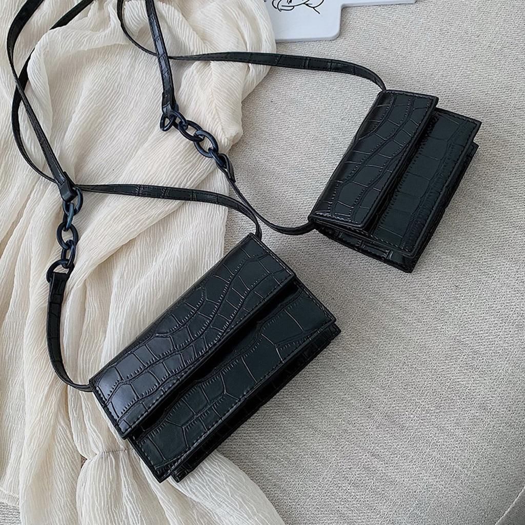 OCARDIAN Women Retro Serpentine Crossbody Bags Messenger Bag Shoulder Bag Handle Bags Hasp Versatile  Handbag Ladies July 3