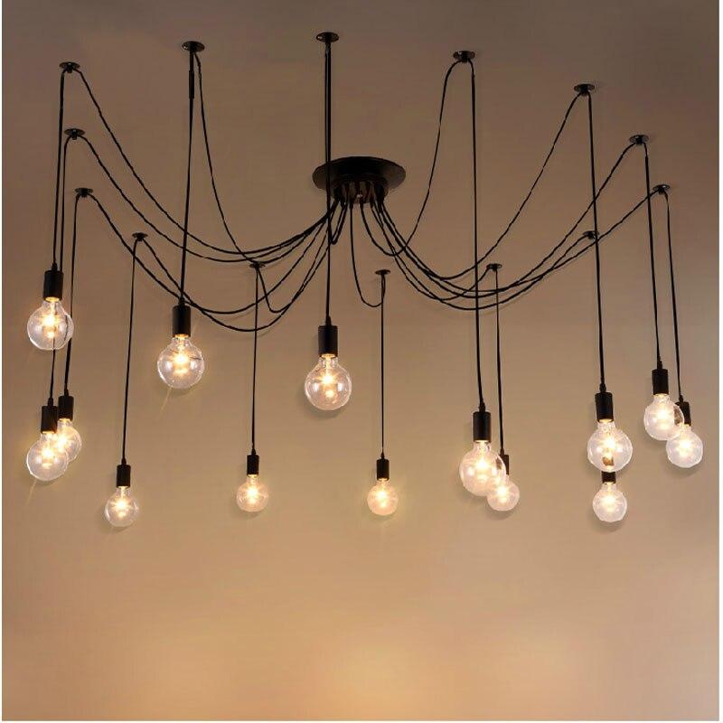 Creative Suspension Luminaire E27 220 V Pour Décor Pendentif Lumières Loft Lampe Suspendus Luminaires Lustre Lamparas Colgantes Avize