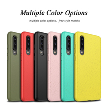 New Colorful Phone Case For Huawei P30 Lite Pro Shockproof Soft TPU Wheat Straw Matte Cover for Fundas
