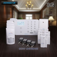 Homsecur Беспроводной и проводной WCDMA/GSM дома сигнализации Системы с Температура Сенсор