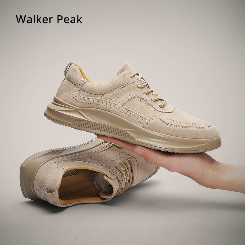 Fashion Sneakers Mens Genuine Leather Casual Shoes For Men Comfortable Summer Shoes Male Footwear 2019 Spring Autumn Walker Peak