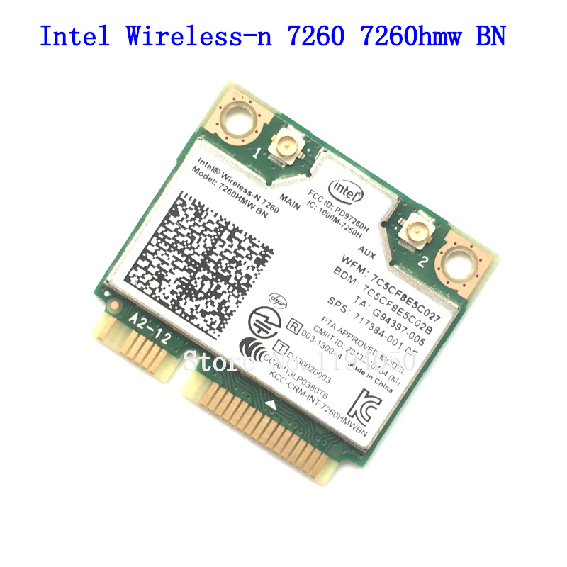 INTEL 7260 BN 7260HMW 300mbps Mini PCI-E 2.4GHz BT 4.0 Combo 7260BN For HP COMPAQ Linux Win7 Win8 Win10 AP