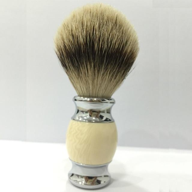 Shaving Brush Badger Hair Men's Chorme Plate Handle High Quality Male Face Beard Shaving Brush Cleaning Care
