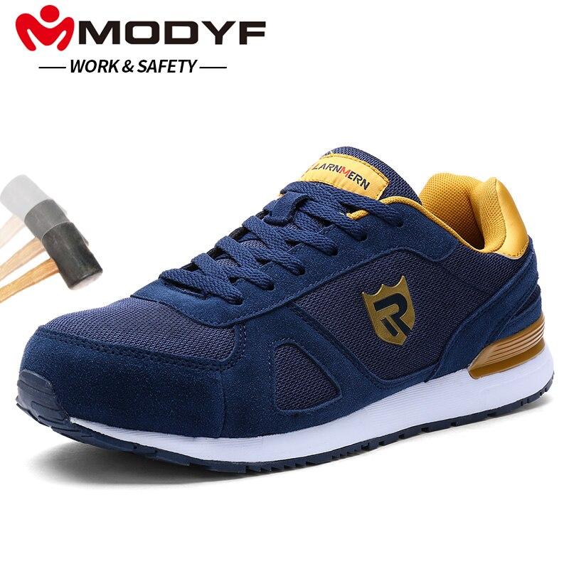 MODYF для мужчин сталь носком рабочая обувь повседневное кроссовки для скейтборда ботильоны защитная