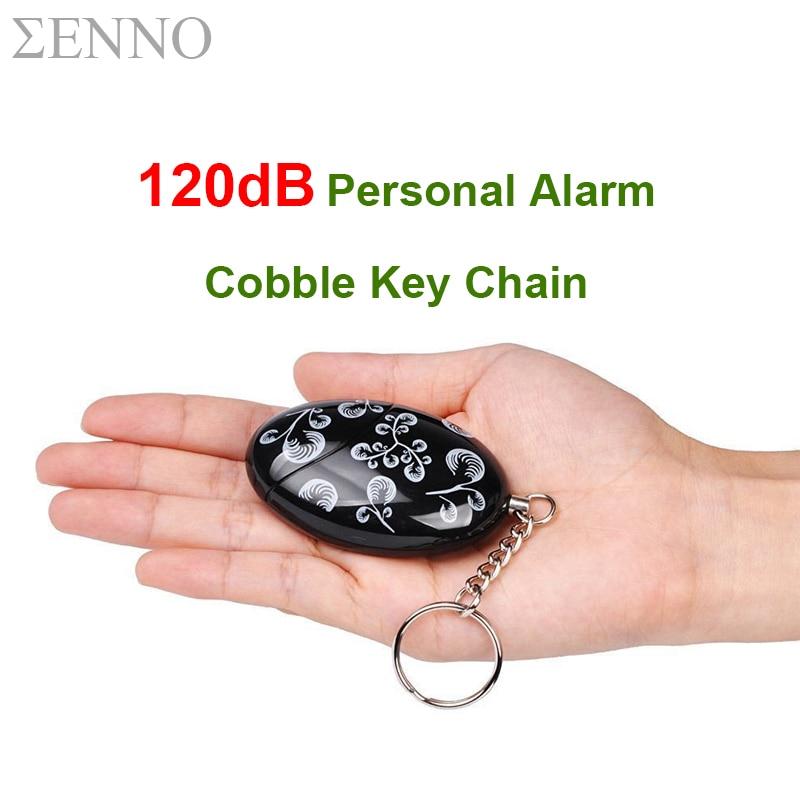 3 Pcs/ Lot 120dB Emergency Personal Alarm Keychain Cobble Self Defense Anti-Attack Security Alarm For Elder Women Kids Girl