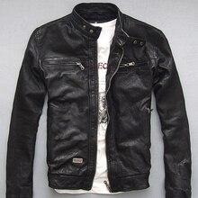 Новинка, мужская зимняя куртка из натуральной кожи для мужчин, мотоциклетная куртка летчика, куртка-бомбер из натуральной кожи, мужская куртка-Авиатор