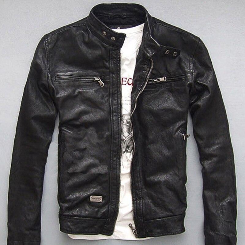 0e12888c98d2d Wyprzedaż genuine leather mens jacket Galeria - Kupuj w niskich cenach  genuine leather mens jacket Zestawy na Aliexpress.com