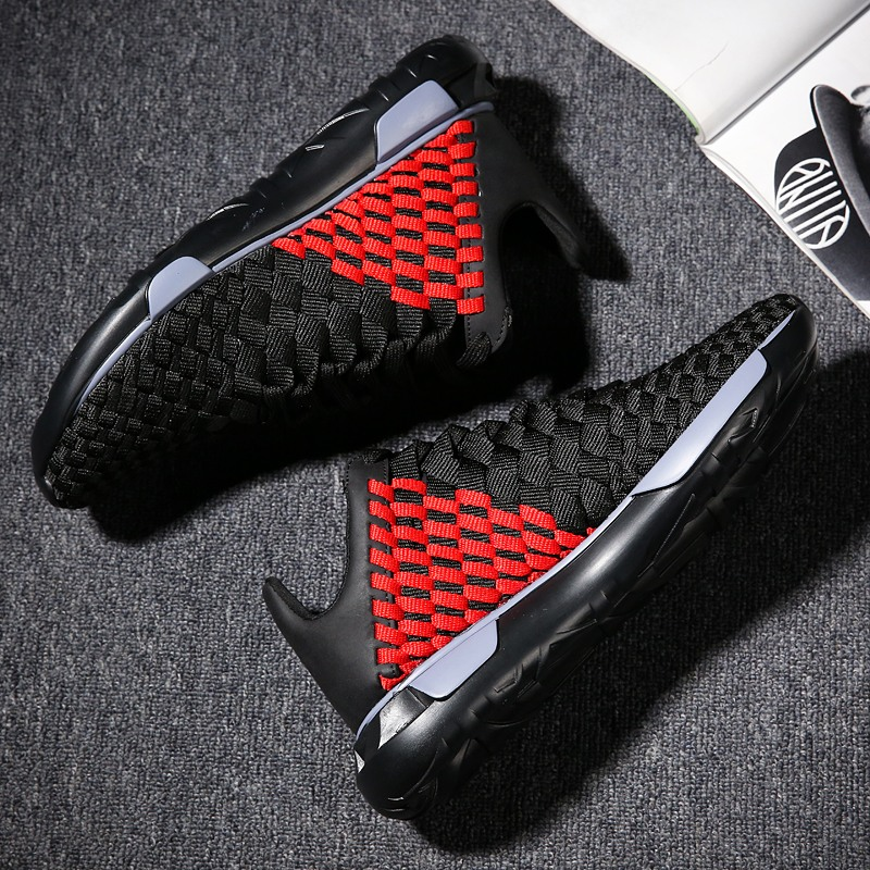 WINDRIDERISM New Arrival Handmade Weaving Shoes for Men Casual Fashion Breathable Lightweight Mens Sneakers Zapatillas