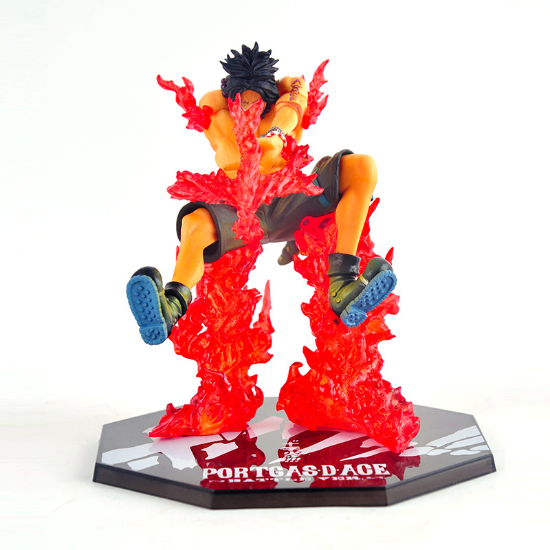 2016 New Anime Figures Toy POP <font><b>ONE</b></font> <font><b>PIECE</b></font> <font><b>Zero</b></font> <font><b>Fighting</b></font> <font><b>Cross</b></font> <font><b>Fire</b></font> Portgas D Ace Children Toys Adult Kids Birthday Christmas Gift