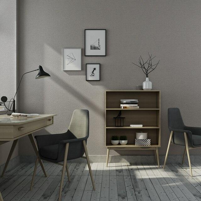 Moderne 3D Imitation lin papier peint PVC épaissir couleur unie gris ...