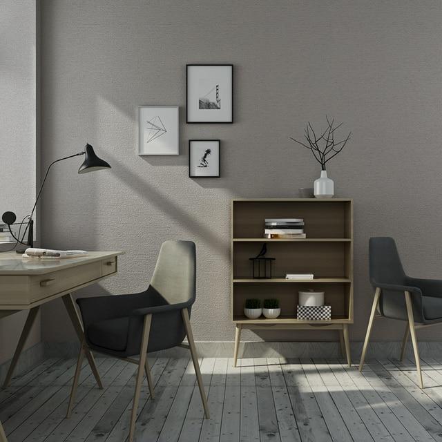 Moderne 3d Nachahmung Leinen Tapete Pvc Verdicken Plain Farbe Grau