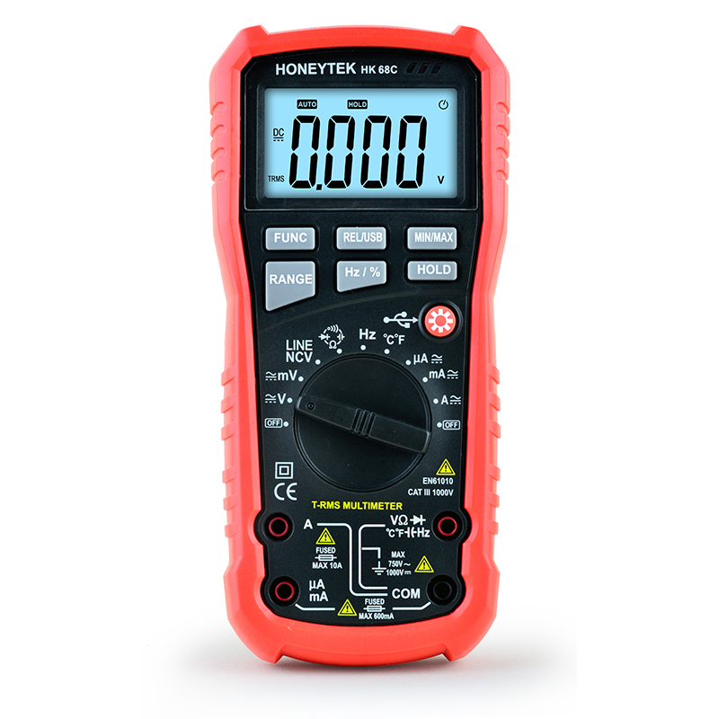 Hight Quality assurance HK68C Multimeter for electricity and chemical Accurate measurement Handheld Digital Multimeter aligning university quality assurance and graduate employability