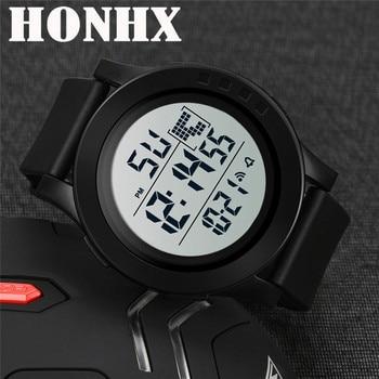 9ade4e05bac4 Las mujeres relojes deportivos de los hombres de lujo analógico Digital  militar ejército deporte LED a prueba de agua reloj de pulsera Montre  Femme