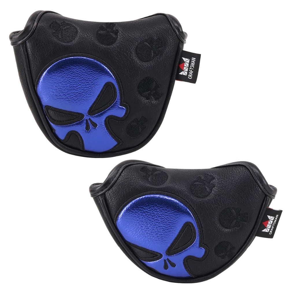 Craftsman Golf Putter Cover Magnetic Mallet HeadCover Cover Half Mallet Headcover Mini Putter Cover Skull Free Shipping