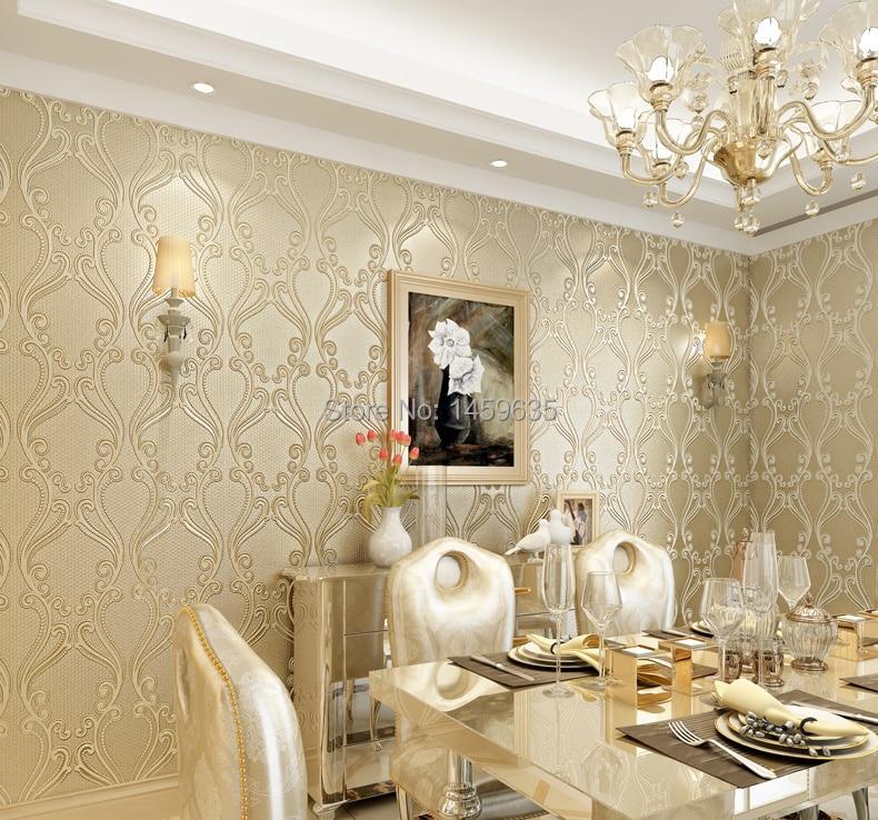 non woven wallpaper modern minimalist plain beige striped