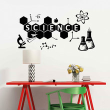 Science Wall Decal Vinyl Sticker Education Home Art Decor Interior Design Self-adhesive Mural Creative Wallpaper 3441