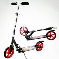 Высокое Качество Складной Портативный Скутер Езда Велосипедов Алюминия Для Взрослых KidsHeight Регулируемая Нагрузка 100 КГ Костюм 1.3 1.95 М