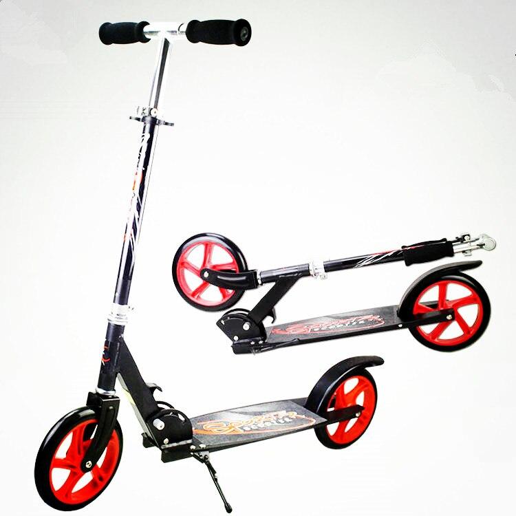 Haute qualité pliant Portable Scooter équitation vélo en aluminium pour adultes KidsHeight charge réglable 100 KG costume 1.3-1.95 M